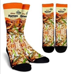 Accessories - Ramen Noodles Graphic 3D Print Socks